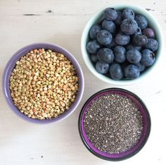 Raw buckwheat & blueberry porridge | Deliciously Ella