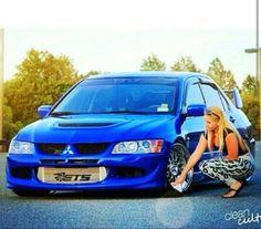 This Girls just Love ☹ Evo 8, Classy Cars, Mitsubishi Lancer Evolution, Tuner Cars, Love Car, Rally Car, Car Girls, Hot Cars, Jdm