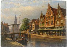 Eduard Alexander Hilverdink: Amsterdam-street, 2e helft 19e eeuw