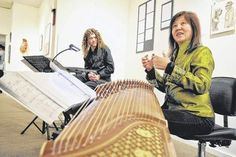 Jason Smeltzer on theremin and Kathy Wang on a zither-like instrument called a guzheng will provide music during the presentation of the 'Old Stories Project' on Feb. 20.