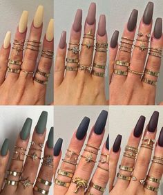 Beautiful Nail Designs To Finish Your Wardrobe – Your Beautiful Nails Nails Polish, Matte Nails, Stiletto Nails, Squoval Acrylic Nails, Acrylic Nails Pastel, Gel Nail, Coffin Shape Nails, Coffin Nails Long, Gorgeous Nails