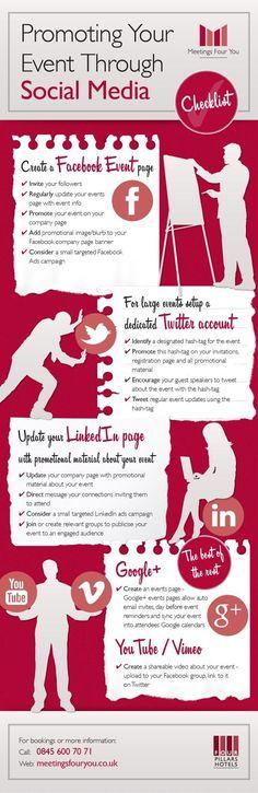 social media event promotion infographic Latest News & Trends on #digitalmarketing | http://webworksagency.com