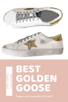 These are the best GG dupes Ive found. They come in all different colors and are currently 30% off! Use code FALL2020. #goldengoose #dupes #fashion #fallfashion2020 #trendy #falltrends2020 #fall trends