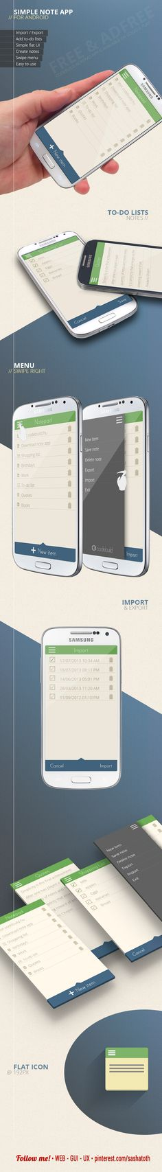 Codebuild Notepad app for Android by Codebuild, via Behance *** #app #android #gui #ui #behance