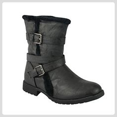LADIES FLAT BLOCK WITHOUT IRON BUCKLE BELT RIDING BOOTS SHOES ...  #block #boots #buckle #ladies #riding #schuhedamenflach #shoes #without #Fashion