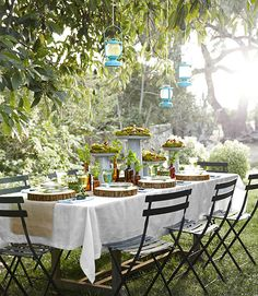 From Ikea's powder-coated steel lanters to a table garnished with herbs, fern fronds, and basswod slices, it's easy to bring an air of refinement to your next outdoor soirée by celebrating Victorian fascinations. Plus: Themed invitations, mossy centerpieces, delicious refreshments, and more »   - CountryLiving.com