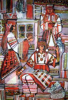 Фотография Skull Artwork, Ukrainian Art, Silk Painting, Vintage Postcards, Folk Art, Pin Up, Culture, Cool Stuff, Drawings