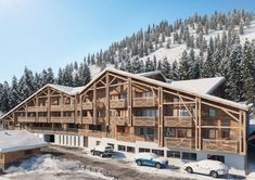 This exisitng development has been given a facelift to cleverly converted it into ski apartments. The apartments are located amongst amazing mountain scenery and the heart of the village, giving amazing views from the large terraces.