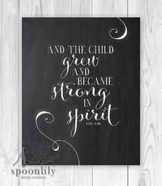 Nursery Bible verse Scripture print Christian Print by SpoonLily