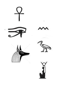 Egyptian Symbols, Ancient Egyptian Art, Mayan Symbols, Viking Symbols, Viking Runes, Ancient Symbols, Little Tattoos, Small Tattoos, Tattoo Sketches
