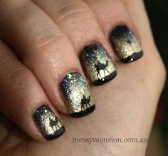 The Three Kings nail art. I <3 this! My b-day is on the Epiphany!