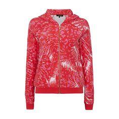 Juicy Couture Sweatjacke aus Frottee mit All-Over-Muster für Damen - Damen  Sweatjacke 941106e2a8
