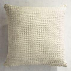 Basketweave Ivory Pillow