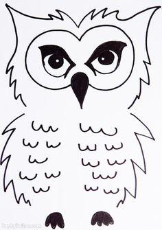 Harry Potter Halloween Owl outline for balloons
