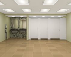 "Bradmar Partitions improve public restrooms and create a sanctuary feeling with the added privacy of ""No Site"" partitions and taller stall doors."