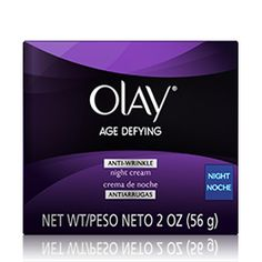 Olay Age Defying Anti-Wrinkle Night Face Cream 2 Oz -- You can find more details by visiting the image link. Night Face Cream, Anti Aging Night Cream, Olay Age Defying, Cream For Oily Skin, Skin Cream, Anti Ride, Thing 1, Anti Wrinkle, Wrinkle Creams