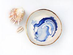 ANTARCTIC  Ocean Jewellery Bowl  Copper by LiquoriceMoonStudios