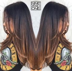 Brunette sombre by #901artist @anthonyholguin! #brownhair #highlights #balayage #brunette