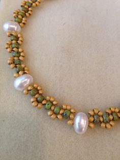 """This necklace can be found in """"Beaded Ropes and Chains"""" (April 2015). Beth Stone"""