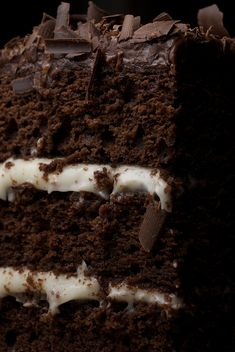 Chocolate Layer Cake with Cream Cheese Frostings is sure to impress, in both flavor and appearance. This tall, beautiful cake is rich, moist, and delicious!