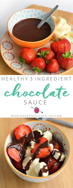 Love chocolate but want to eat healthy? Then try this 3 ingredient healthy chocolate sauce recipe!