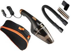 Best 007 Car Vacuum Cleaner 106W 12V Wet&Dry Portable Handheld 16.4FT(5M)Power Cord with Carry Bag(Black) Auto Lightweight Cleaner Dustbuster Hand Vac