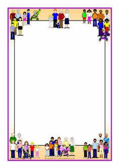 Families A4 page borders (SB4784) - SparkleBox