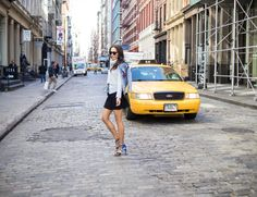 SWEATHER WEATHER… | SEA OF BEES NYC New York based personal style blogger.  #look #denim #jacket #soho #celine #glasses #parrot #shoes #zara #topshop #skater #skirt #clubmonaco #cropped #knit #knitted #wear #bare #legs #streetstyle #nyc