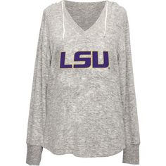 Chicka-d Women's Louisiana State University V-neck Hoodie (Grey, Size Large) - NCAA Licensed Product, NCAA Women's at Academy Sports