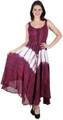 #1001 Womens stonewashed Tie Dye Rayon Long Dress