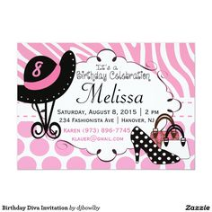 Birthday Diva Invitation