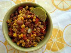 spicy pinto beans and corn