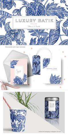 Luxury Batik, Watercolor Set! by Pink Linen on @creativemarket