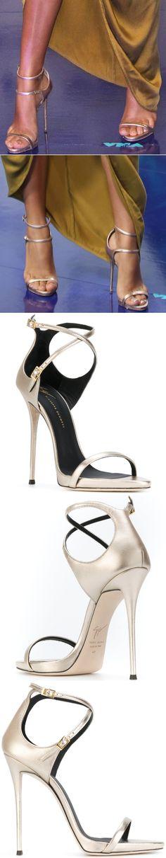 "Cick to see how Yara Shahidi styled her Giuseppe Zanotti ""Darcie"" sandals"