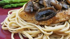 An aromatic, garlicky sauce of Balsamic vinegar and mushrooms graces this chicken dish.