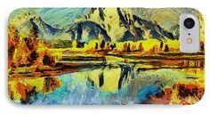 Caso impresionista del paisaje de teléfono por la Galería Zullian Trompiz Paisaje impresionista, #abstracto, #vangogh, #impresionismo, #expresionista
