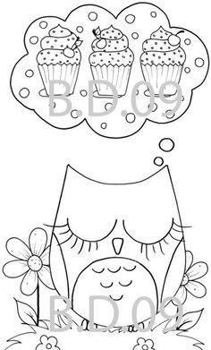 coruja retirei da net owl printable coloring pages