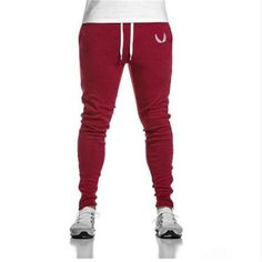 New brand of high quality rubber 2017 street fashion casual pants pants men chandal basculador red pants jeans male thin man