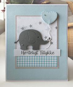 Card critters elephant balloon balloons Rayher die set kid baptisme newborn baby children birthday MFT Tiny check paper pad Die-namics #mftstamps - kort m elefant og ballon børn nyfødt tillykke dåb fødselsdag - JKE