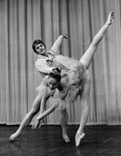 Mikhail Baryshnikov and Alla Sizova rehearsing for a performance of Coppelia, 1970. Leonard Burt/Central Press / Getty Images - Found via Buzzfeed