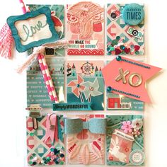 Love Pink & Teal Pocket Letter by Jackie Benedict