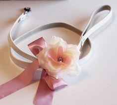 Pink Custom dog Leash, Pet accessory, Pink Wedding accessory,Pink Floral dog Leash, Pink Wedding idea