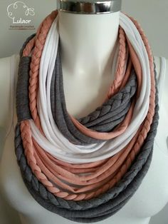 t shirt scarf t shirt infinity scarf t shirt scarf by Lulaor