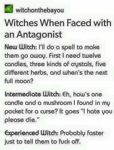 Very Experienced Witch: Eh, stick 'em in the freezer...