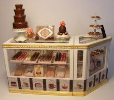 12th scale chocolate counter