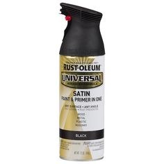 Rust-Oleum Universal Flat Flat Black Spray Paint and Primer In One (Actual Net Contents: at L Spray Paint Plastic, Best Spray Paint, Painting Plastic, Spray Painting, Rustoleum Spray Paint, Matte Black Spray Paint, Rust Prevention, Paint Primer, Old Frames