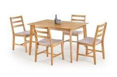 Mese si scaune de bucatarie din lemn Cordoba, stejar deschis/gri, structura din lemn de cauciuc, contine: masa dreptunghiulara 120x80x75 cm + 4 scaune 47x52x85 cm lxAxh Outdoor Tables, Outdoor Decor, Outdoor Furniture Sets, Dining Table, Dining Sets, Home Decor, Design, Products, Cordoba