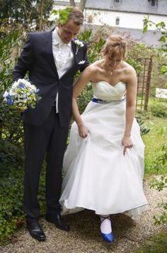 Blau-Weiß für die Liebe – Real Wedding Ronja & Thomas