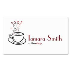 Coffee Shop, Internet Cafe Business Card Templates.