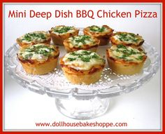 These individual sized deep dish pizzas create a perfect appetizer platter, make an adorable finger food option at parties, a great make-ahead lunch box item, and are a simple and fun 'kid friendly' activity for adults and children alike.